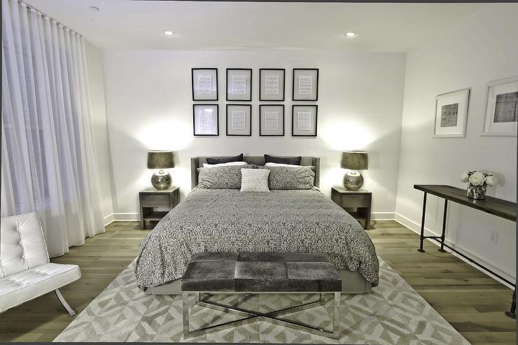 Best Silver Bedding Contemporary Bedroom Benjamin Moore This Month