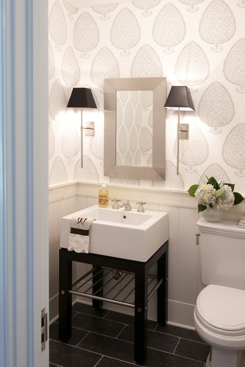 Best Black And White Washstand Contemporary Bathroom This Month