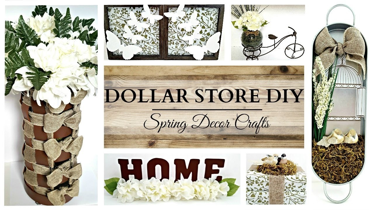 Best Dollar Store Diys Earth Tone Spring Home Decor Crafts This Month