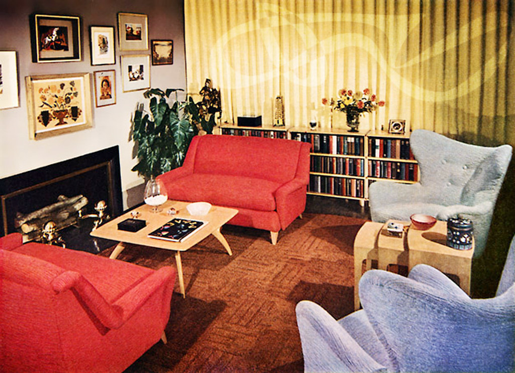 Best 1950 S Interior Grab A Red Chair And A Yummy Cocktail This Month