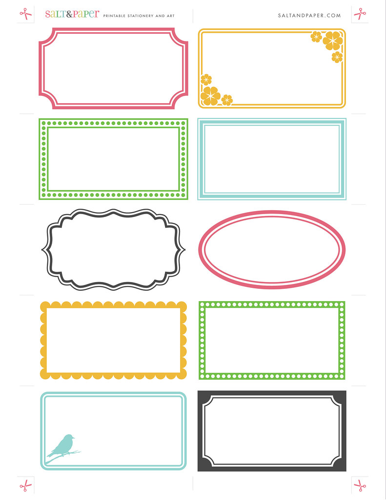 Best Printable Labels From Saltandpaper Com For A High This Month