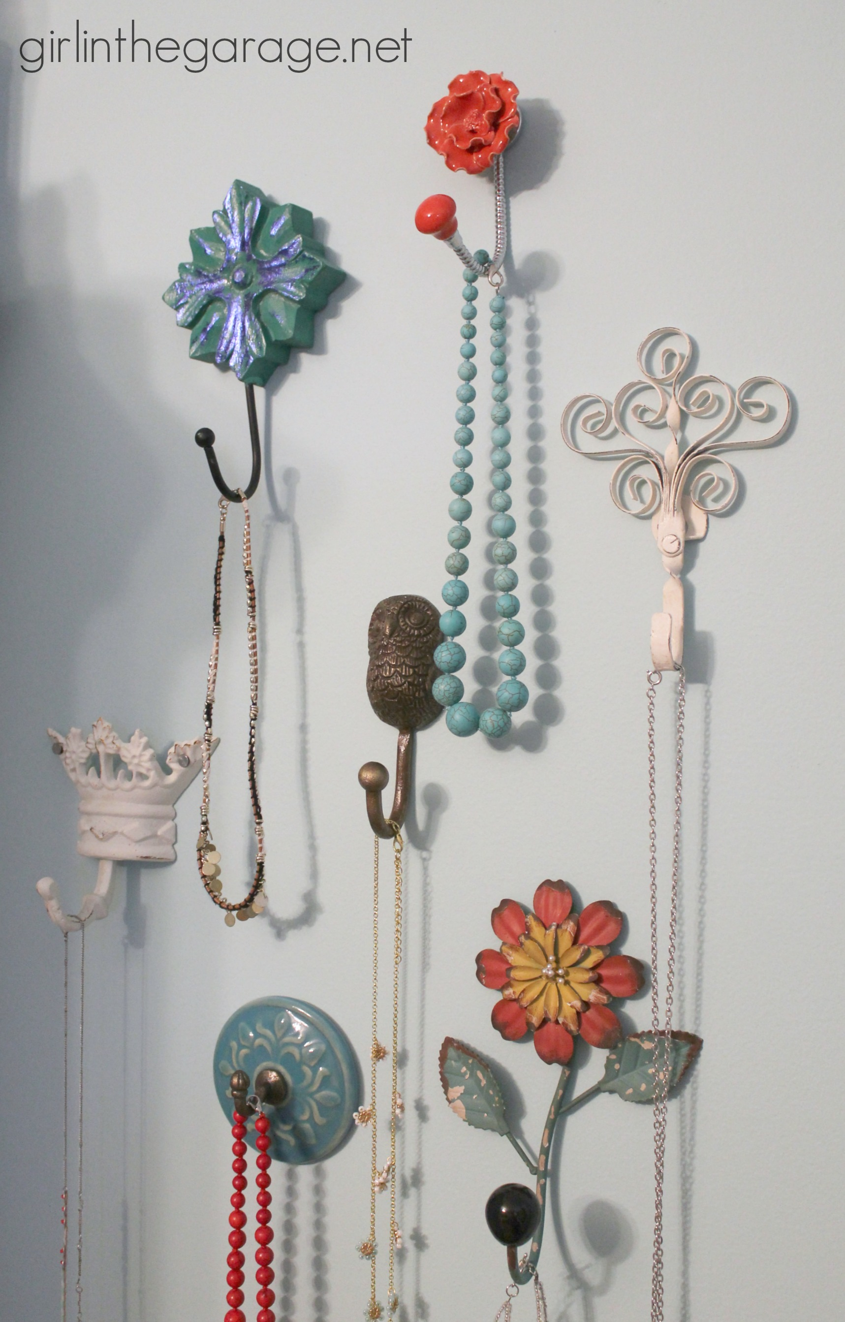 Best Decorative Wall Hooks As Jewelry Storage Girl In The Garage® This Month