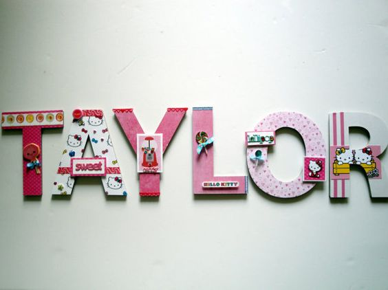Best Hello Kitty 8 3D Custom Wall Letters Sweet Memories This Month