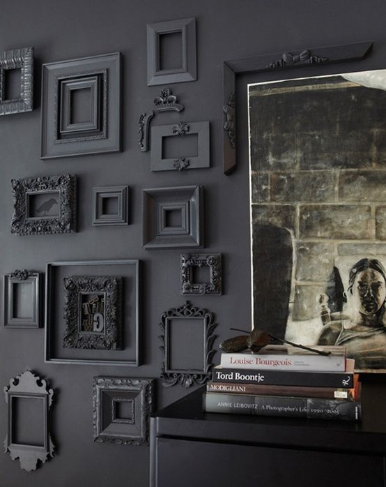 Best Grey Wall With Frames Painted The Same Color Hmm This Month
