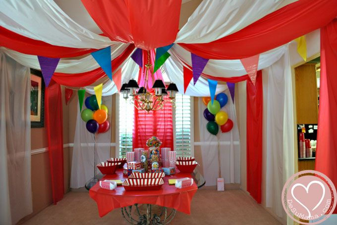 Best Circus Party Big Top Baby Shower Balloon Banner And This Month