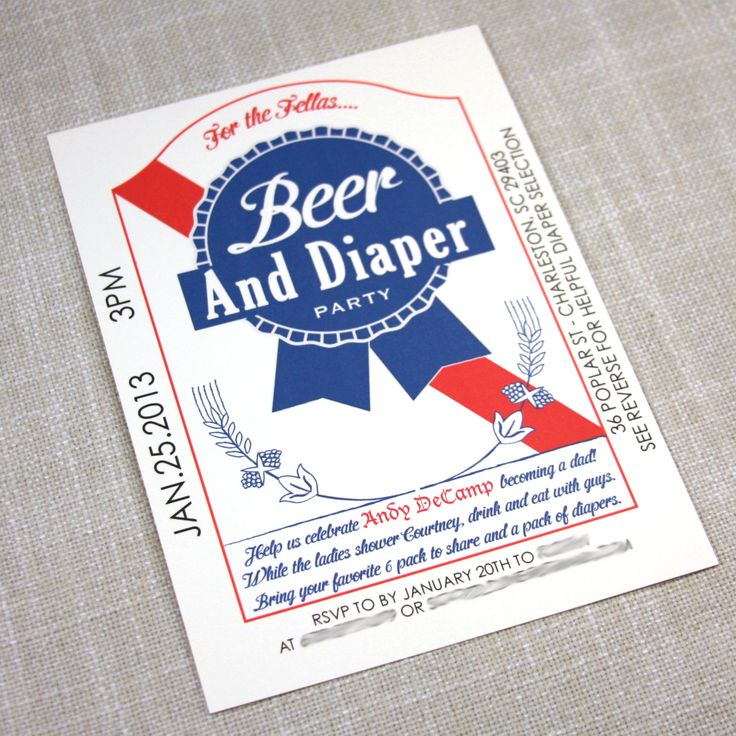 Best Pbr Can Inspired Beer And Diaper Baby Shower Invitation This Month