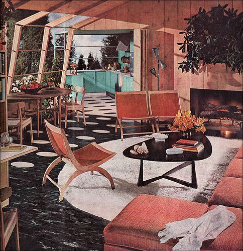 Best 1954 Atomic Living Room By American Vintage Home Via This Month