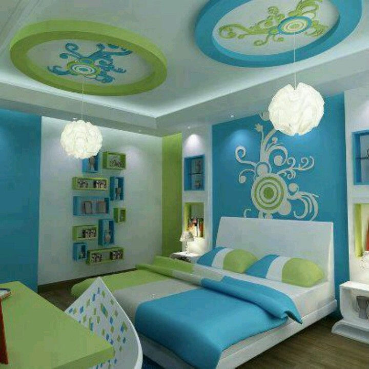Best Blue And Green Bedroom Bedrooms Pinterest Green This Month