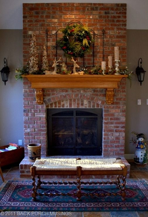 Best 17 Best Ideas About Brick Fireplace Mantles On Pinterest This Month