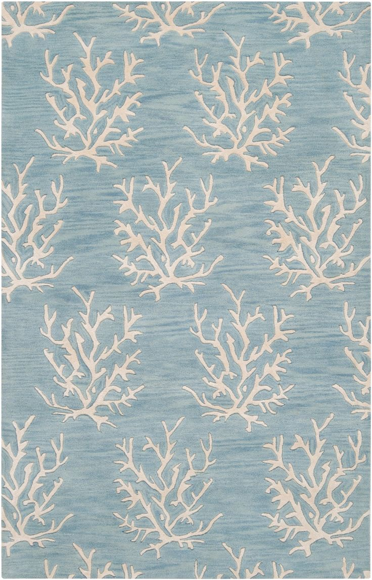 Best Escape Small Coral Area Rug White On Powder Blue Beach This Month