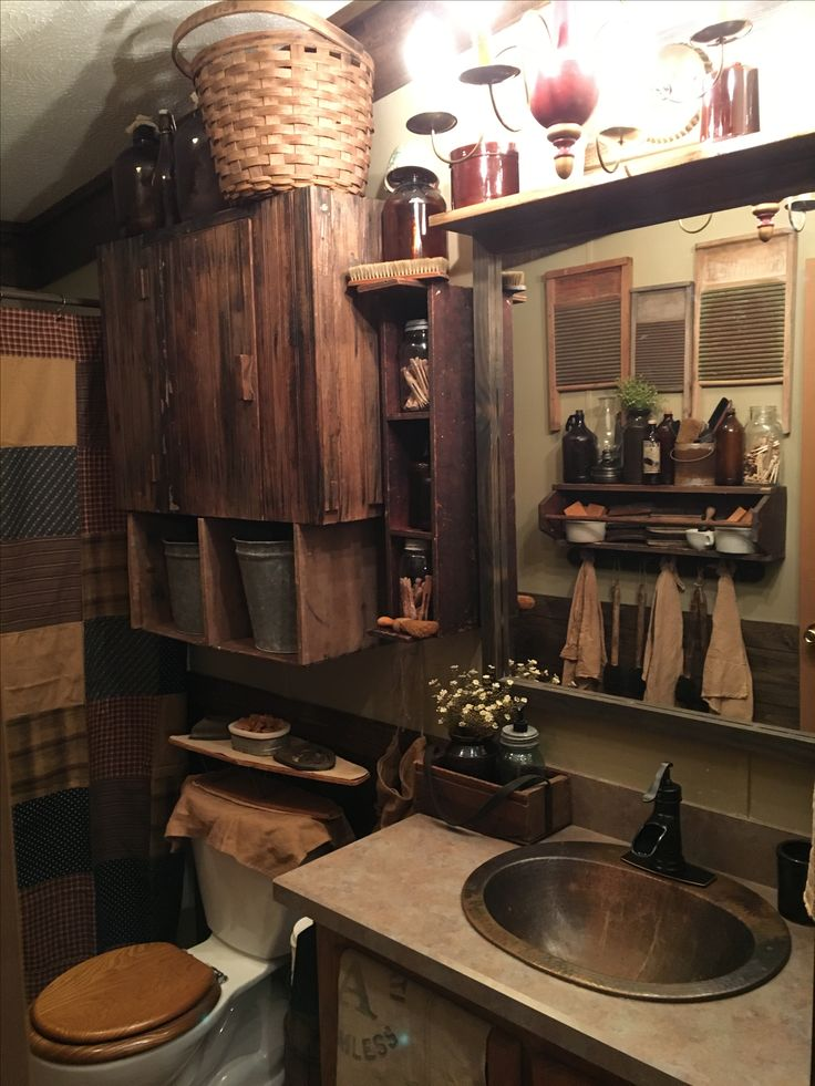 Best 17 Best Ideas About Primitive Bathroom Decor On Pinterest This Month