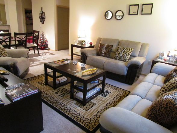 Best Living Room Accented With Cheetah Print Throw Pillows And This Month