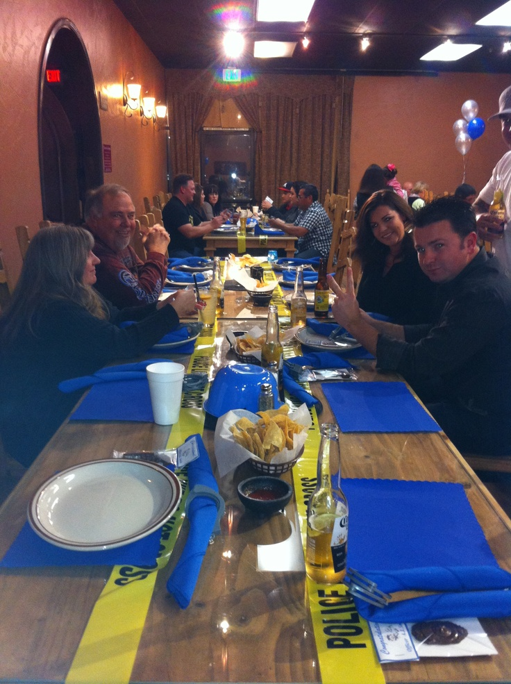 Best Table Setting At Police Party Police Party Pinterest This Month
