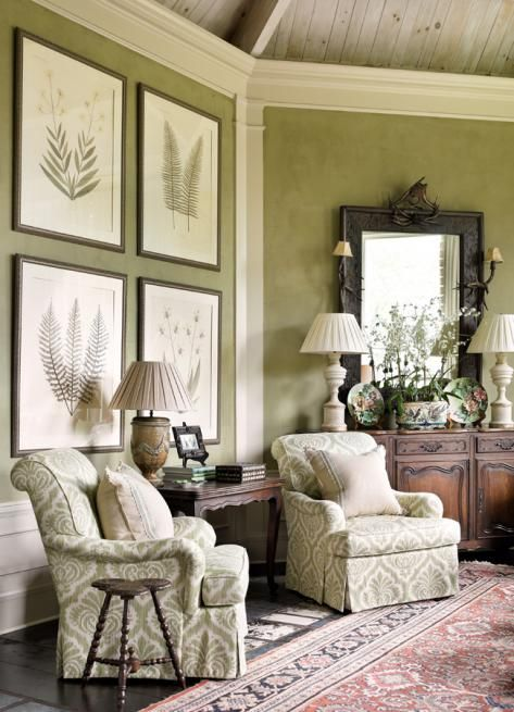 Best Muted Lime Green Living Room With Damask Chair And Framed This Month