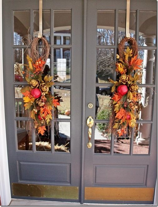 Best 25 Double Door Wreaths Ideas On Pinterest Entry This Month
