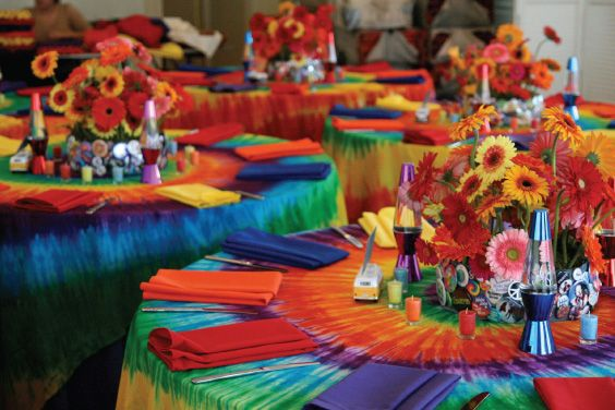 Best Peace Love And Happiness 60 S Tie Dye Tablescapes This Month