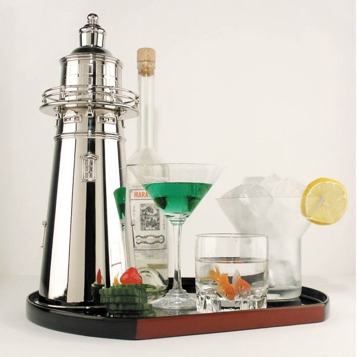 Best Lighthouse Cocktail Shaker Nautical Home Decorating This Month