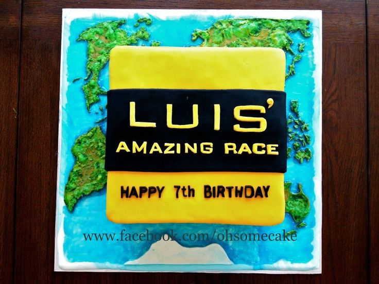 Best Amazing Race Theme Cake Design Ohsome Cakes Pinterest This Month