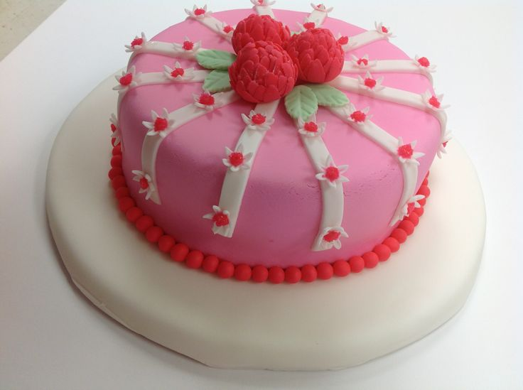 Best Sushma Chiluka Created A Beautiful Fondant Cake In Course This Month