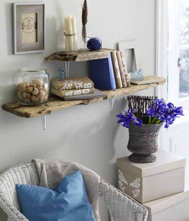 Best Diy Driftwood Decor Home Living Room Wall Shelves Planks This Month