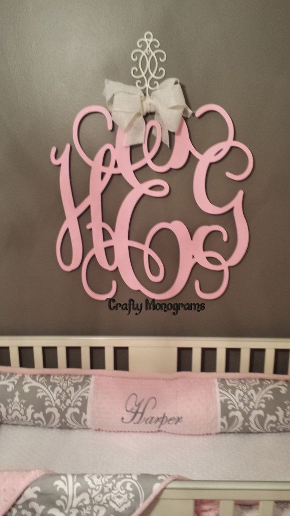 Best Painted 26 Wood Monogram Initials Wall Decor Hanging This Month