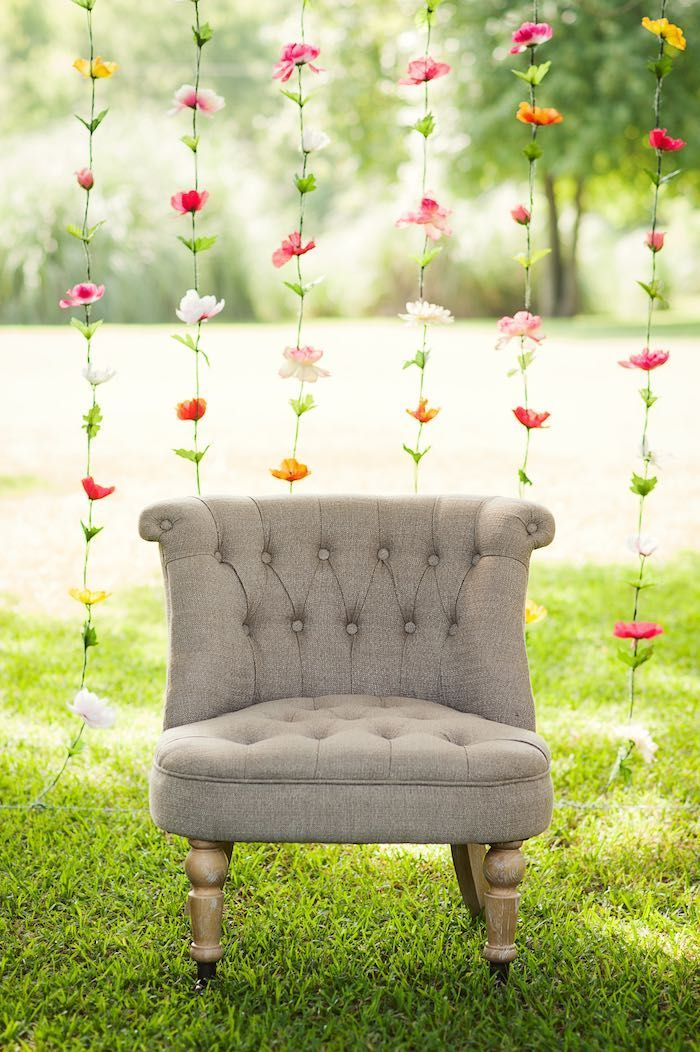 Best Floral Garland Photo Backdrop From A First Birthday Garden This Month