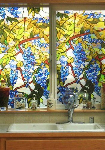 Best Wisteria Stained Glass Window Film By Artscape 31 59 This Month