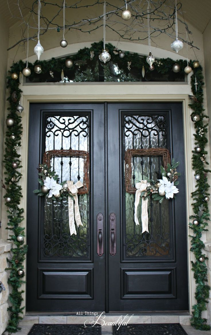 Best 1000 Ideas About Double Door Wreaths On Pinterest This Month