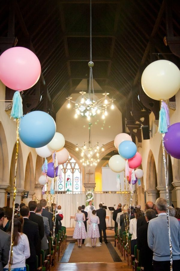 Best Crystal Chandelier Wedding Decor Colorful Balloons Aisle This Month