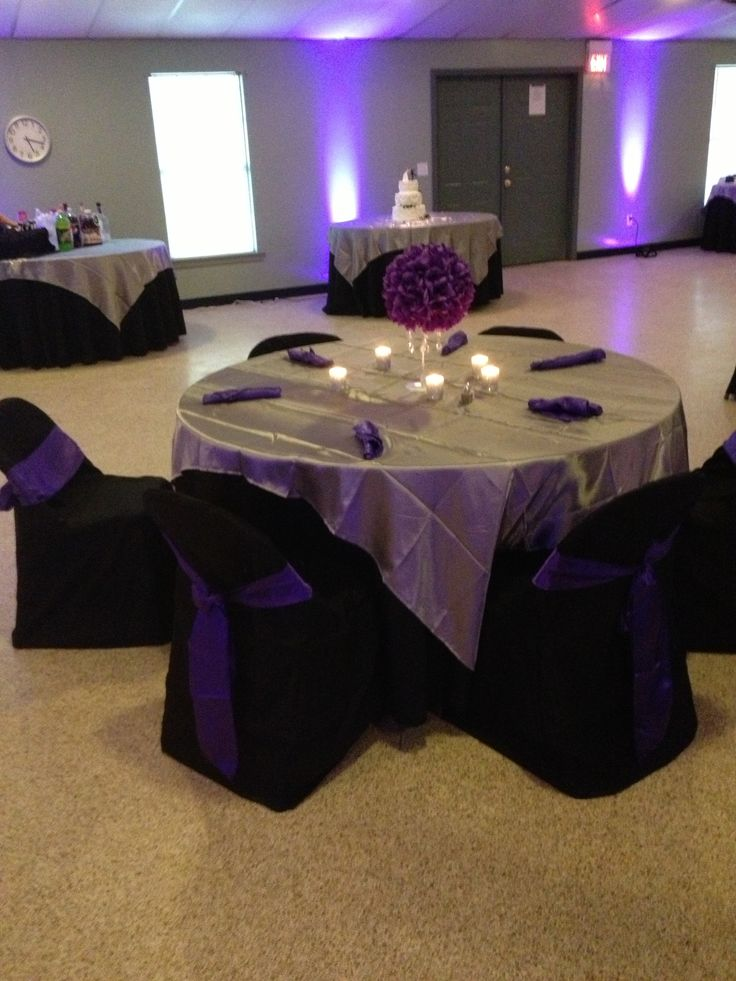 Best Purple Black Silver Table Decoration Ms Herrings 70Th This Month