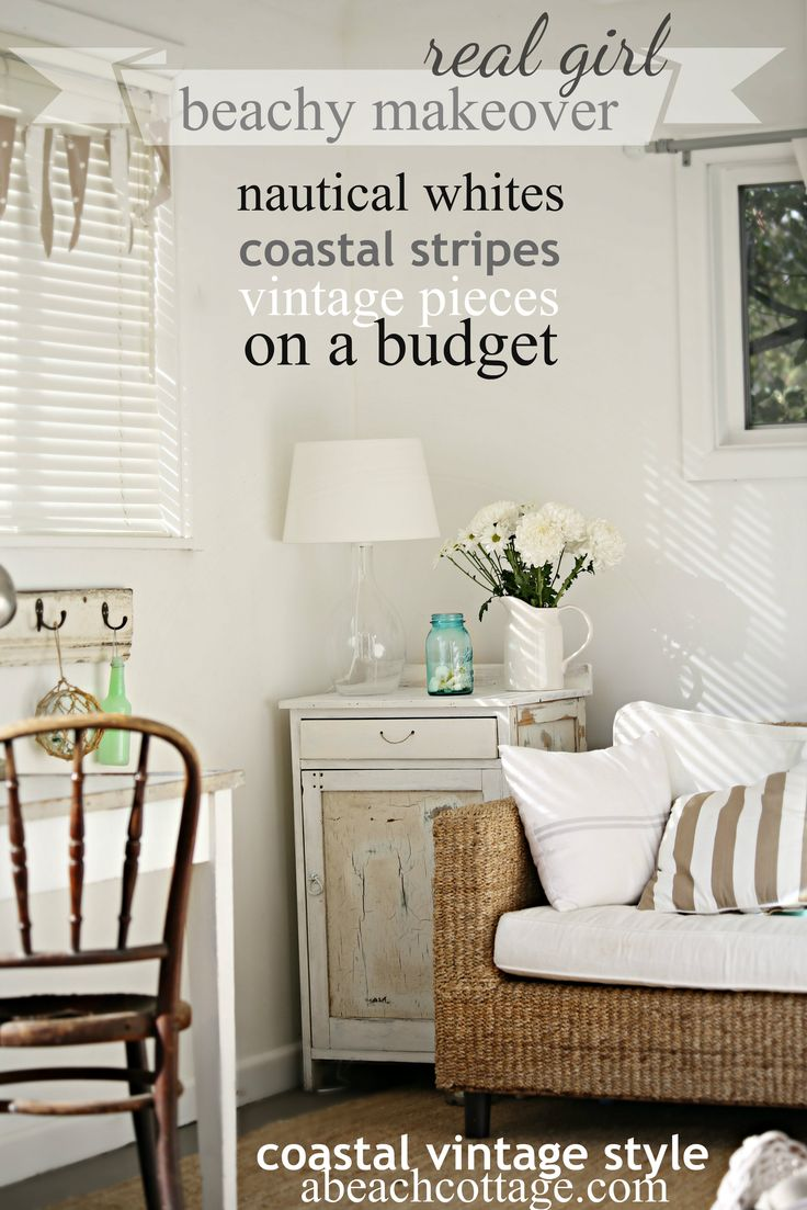 Best Beach Cottage Coastal Nautical Summer House Makeover On A This Month