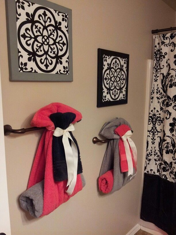 Best Cute Way To Hang Towels For Guest Bathroom Diy Home This Month