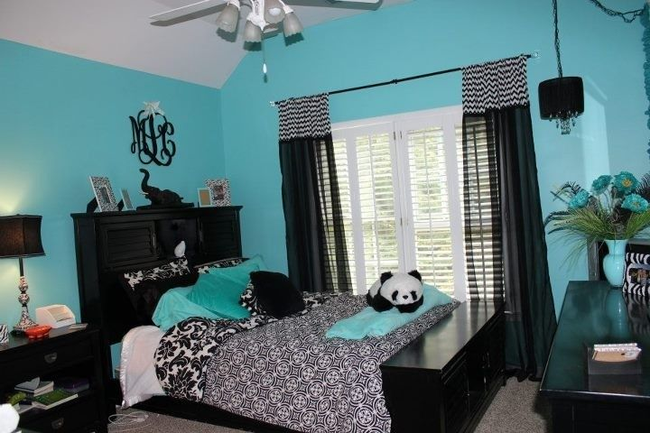 Best Blue Black And Wight Panda Room Kimi Pinterest Blue This Month