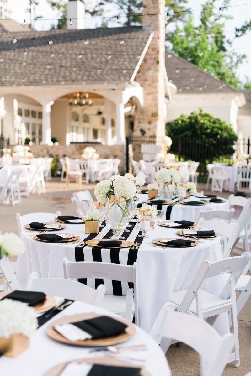 Best Black And Gold Wedding Decorations Outdoor Table Setting This Month