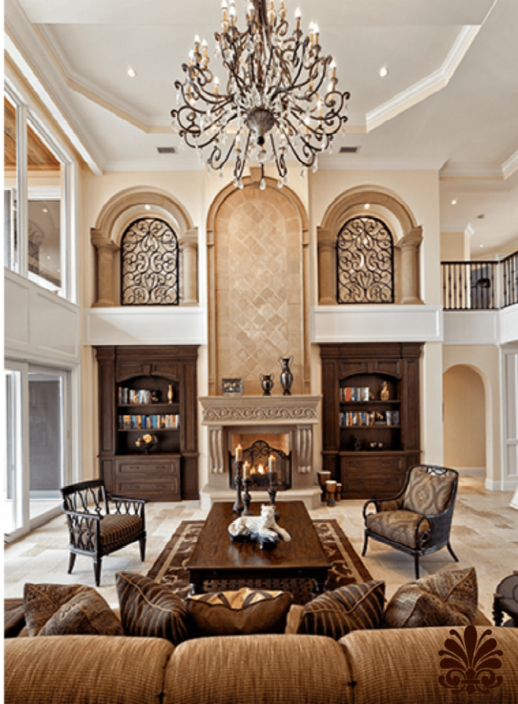 Best Family Room With High Ceilings And Old World Charm This Month