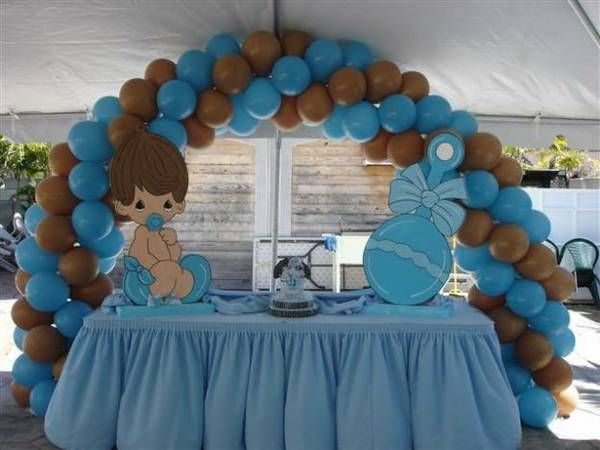 Best Blue Brown Baby Shower Tableware Baby Shower Table This Month