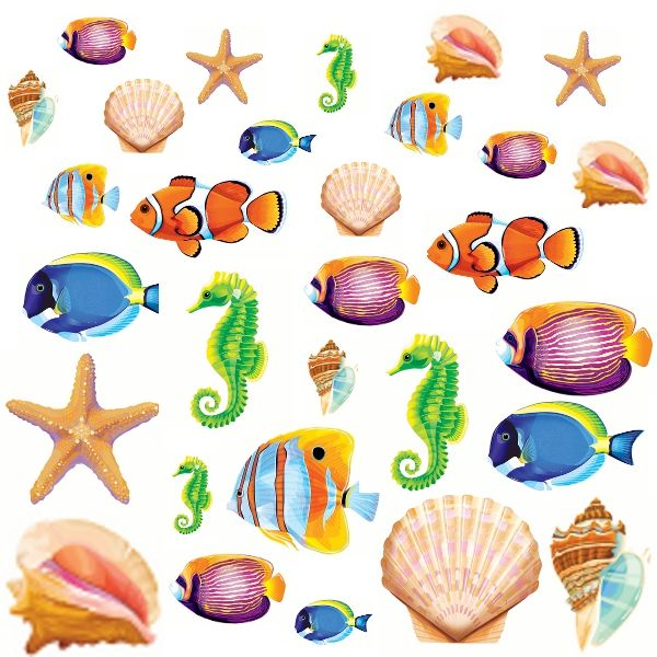 Best Sea Life Cutout Assortment 30Ct Wally S Party Supply This Month