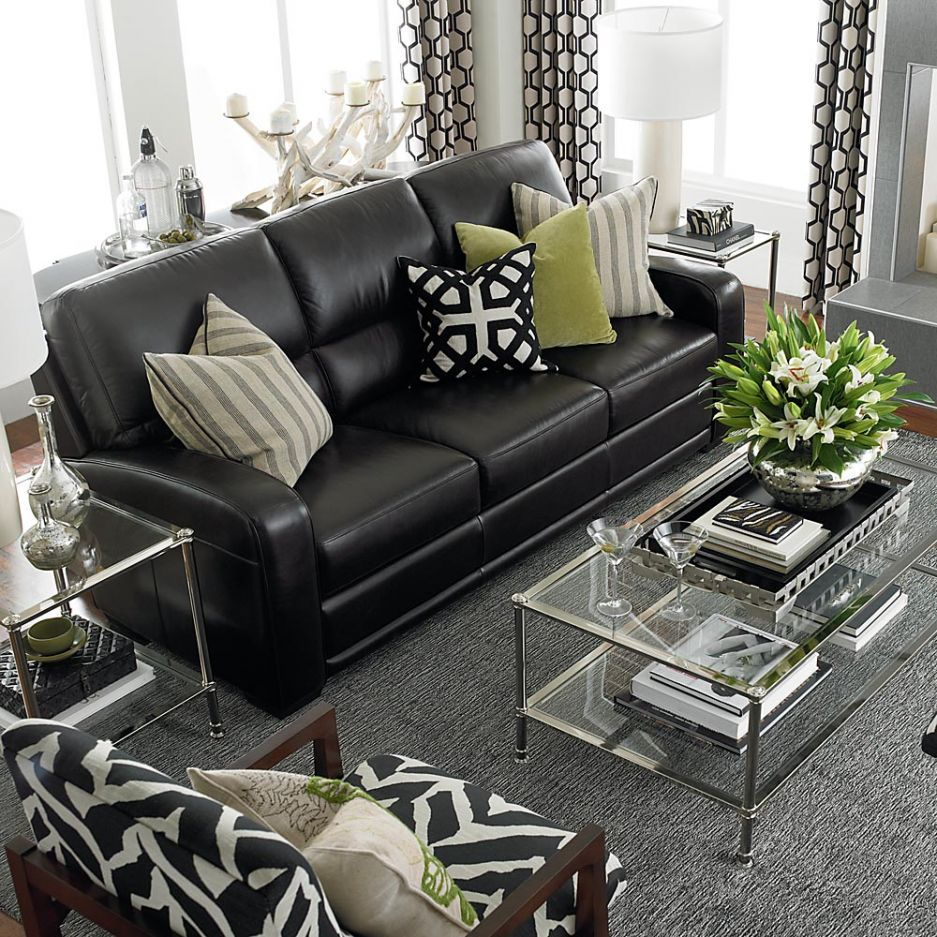 Best Black Leather Sofas On Pinterest Reclining Sofa Modern This Month