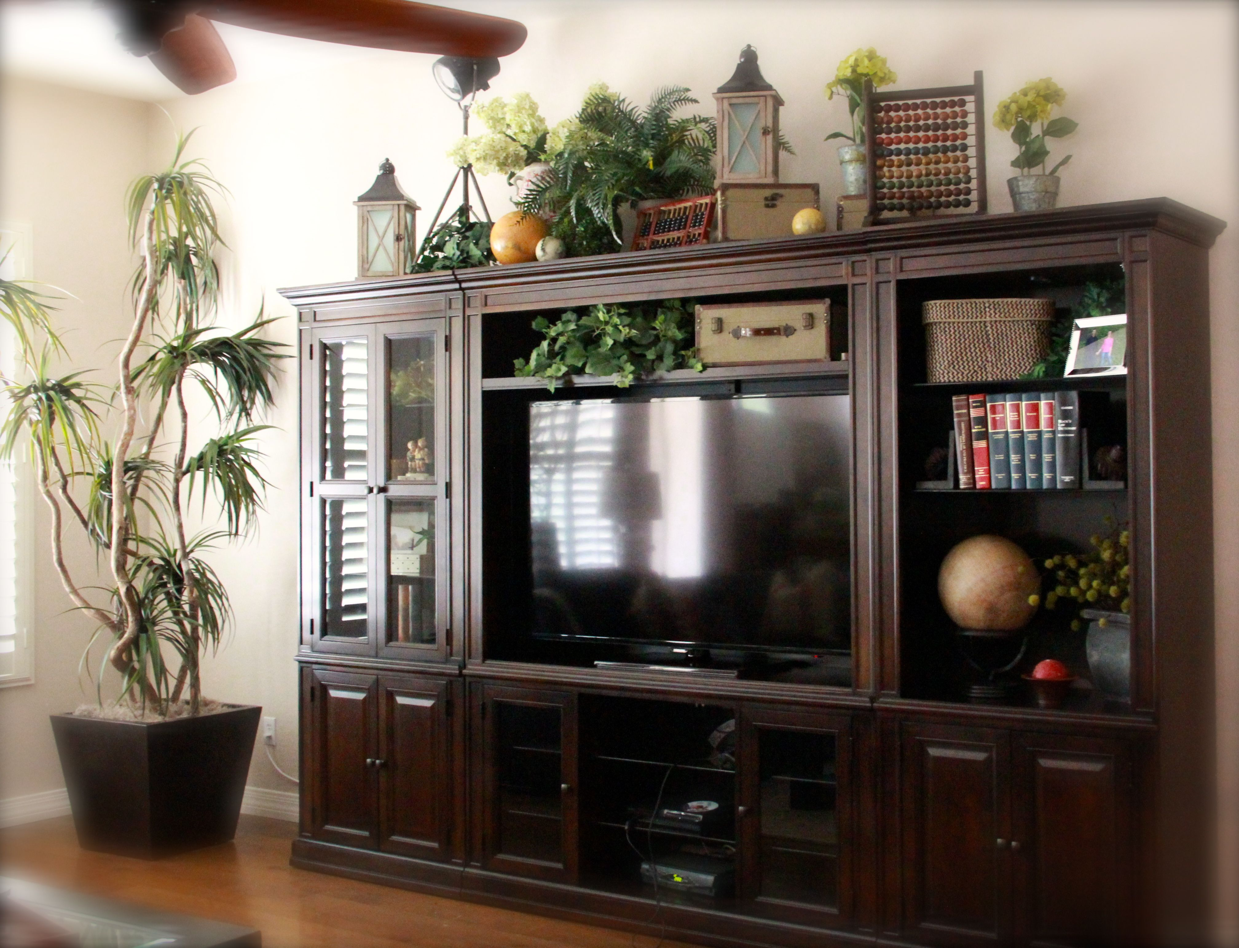 Best Top Of Large Entertainment Center Studious Look Old Books This Month