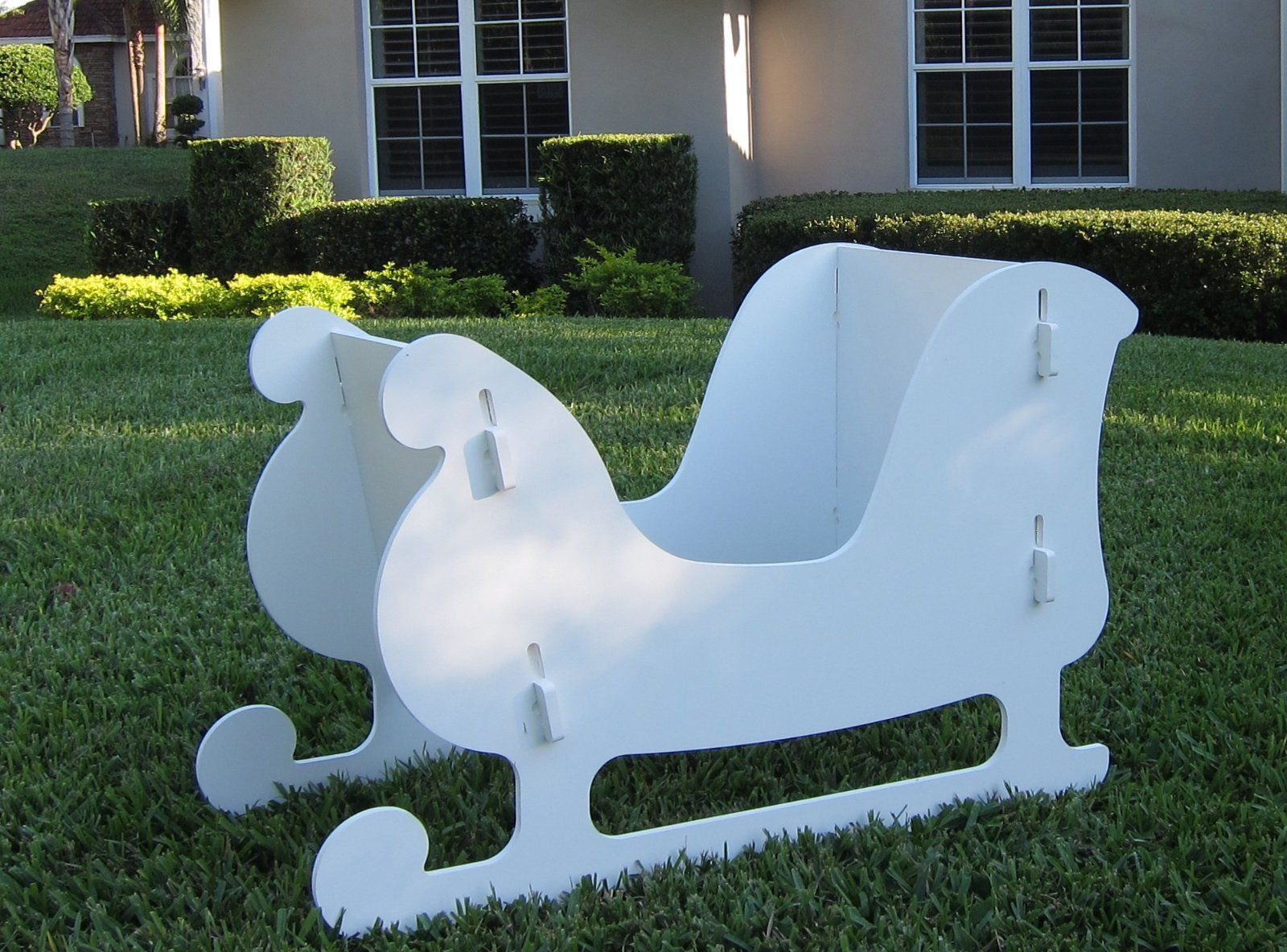Best Christmas Outdoor Santa Sleigh And 2 Reindeer Set Amazon This Month