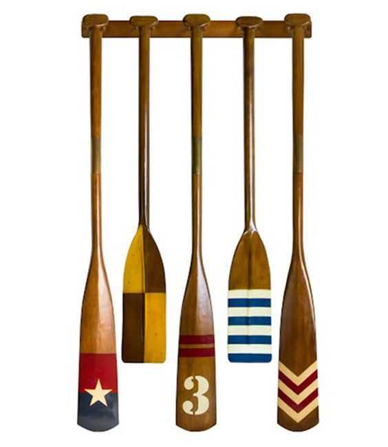 Best Complete Set Of 5 Royal Barge Oars With Rack Decorative This Month
