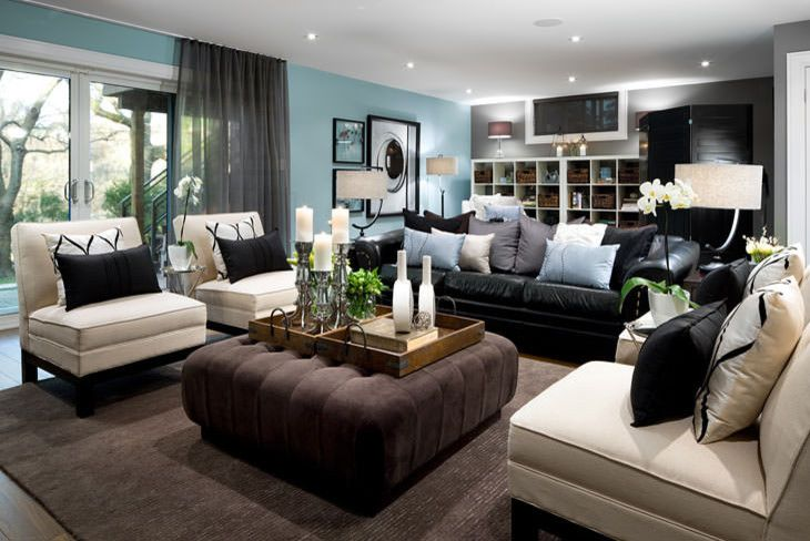 Best Wonderful Black Leather Sofa Decorating Ideas For Living This Month