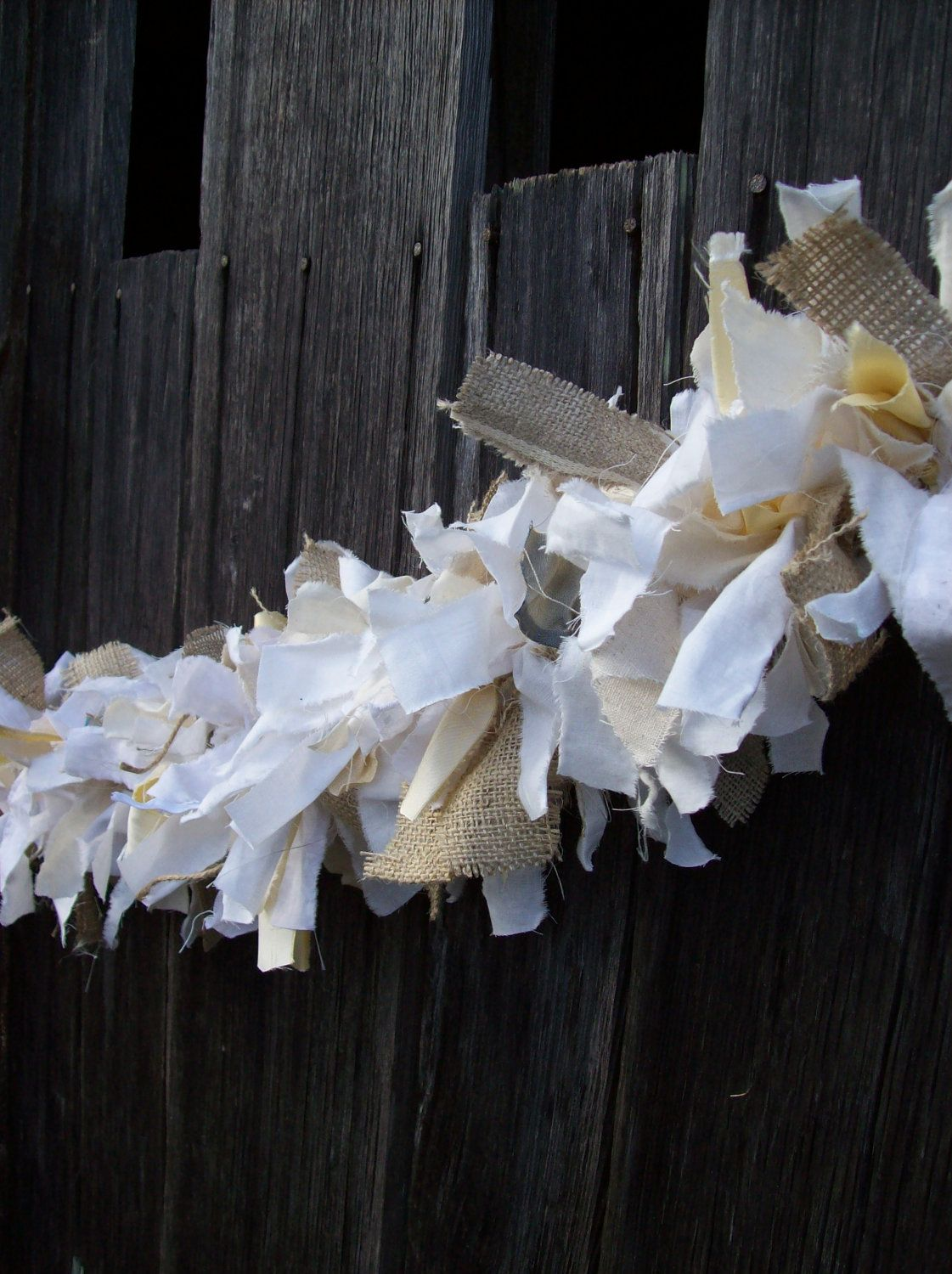 Best Rustic Wedding Decor Fabric Garland Rag Linen Swag By This Month