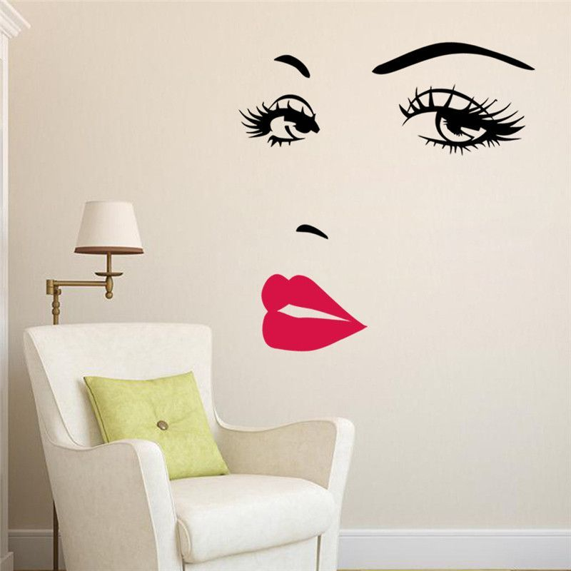 Best Pouty Girl Glam Wall Decal Sticker Decor Girls Lips Art This Month