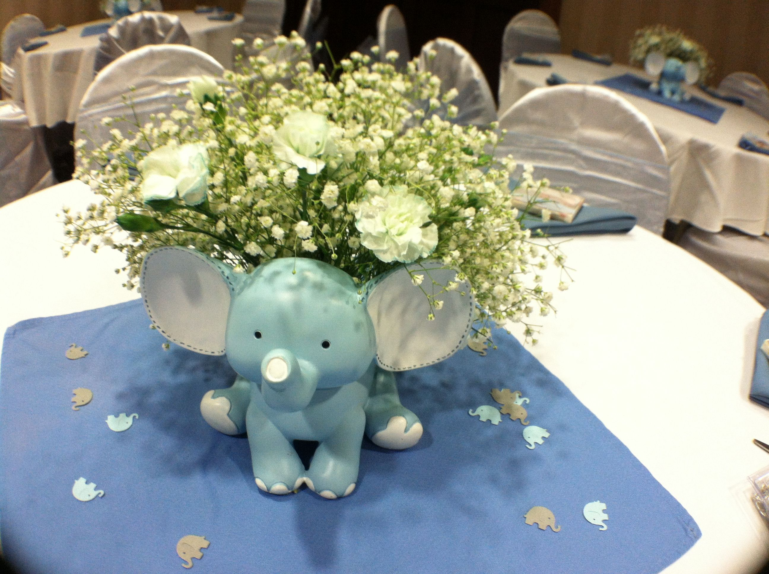 Best Baby Shower Elephant Theme For A Boy Center Pieces This Month
