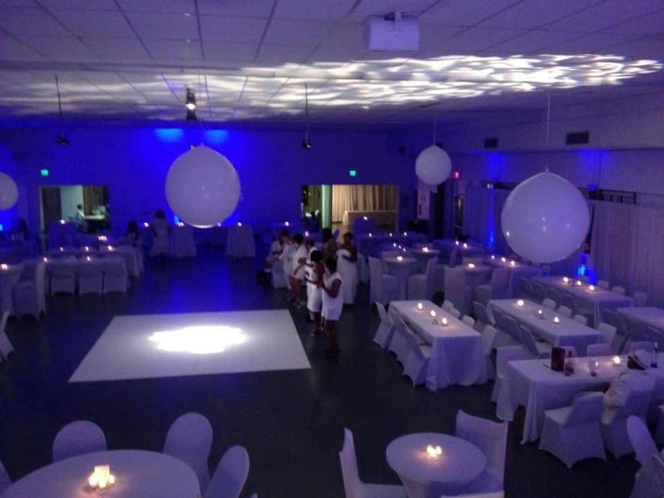 Best All White Party White Party Decorations Blue Uplighting This Month