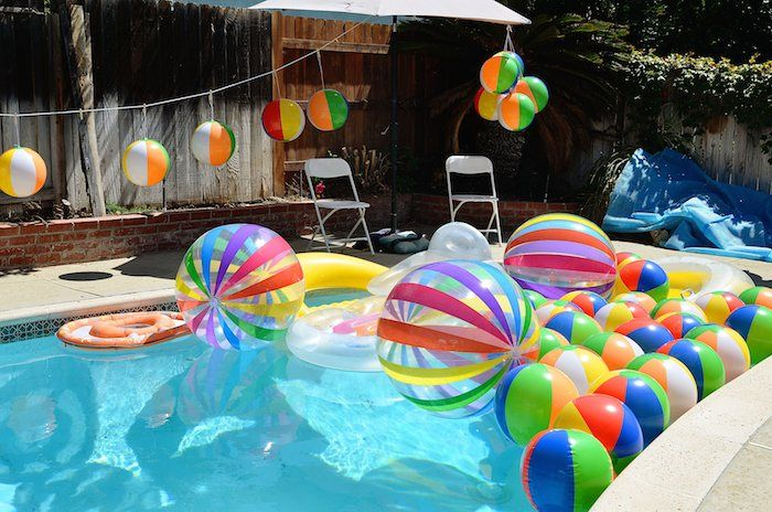 Best Beach Ball Themed Birthday Party Via Kara S Party Ideas This Month