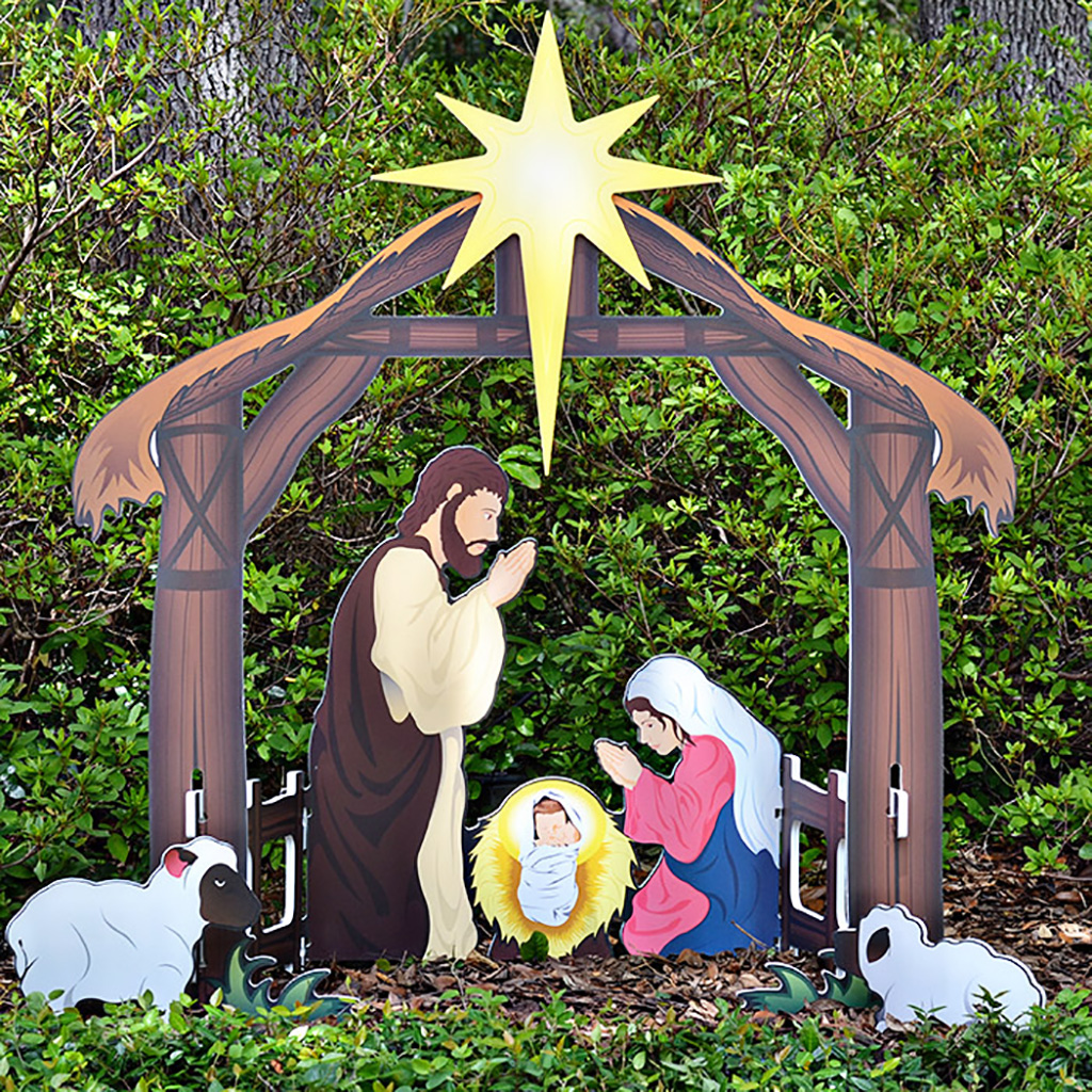 Best Holy Night Printed Outdoor Nativity Set This Month