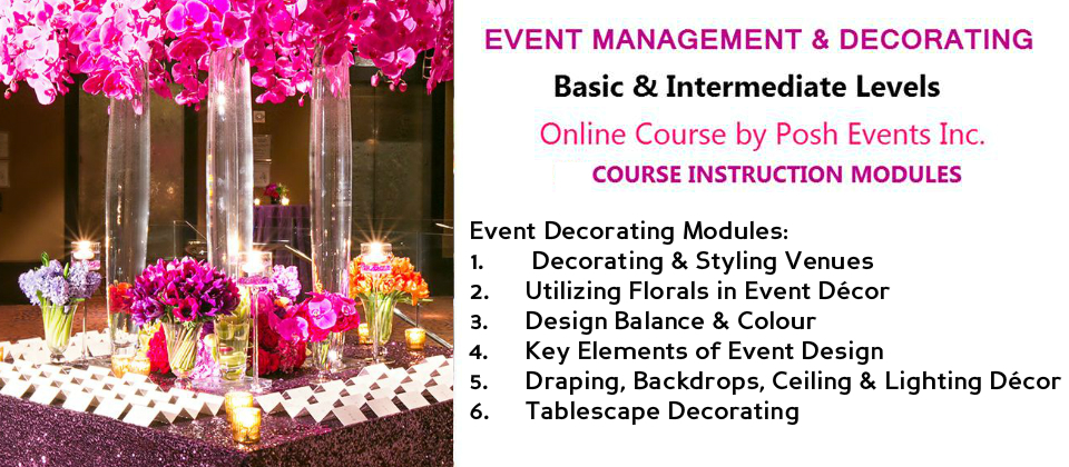 Best Event Decorating Online Course Basic Intermediate Levels This Month