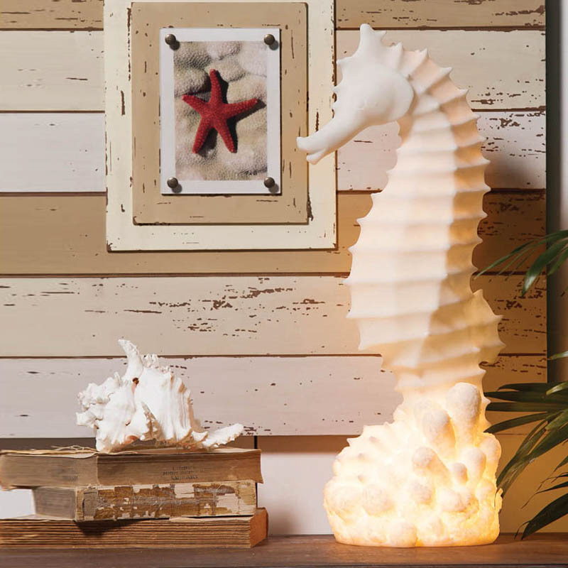 Best White Embossed Seahorse Lamp This Month